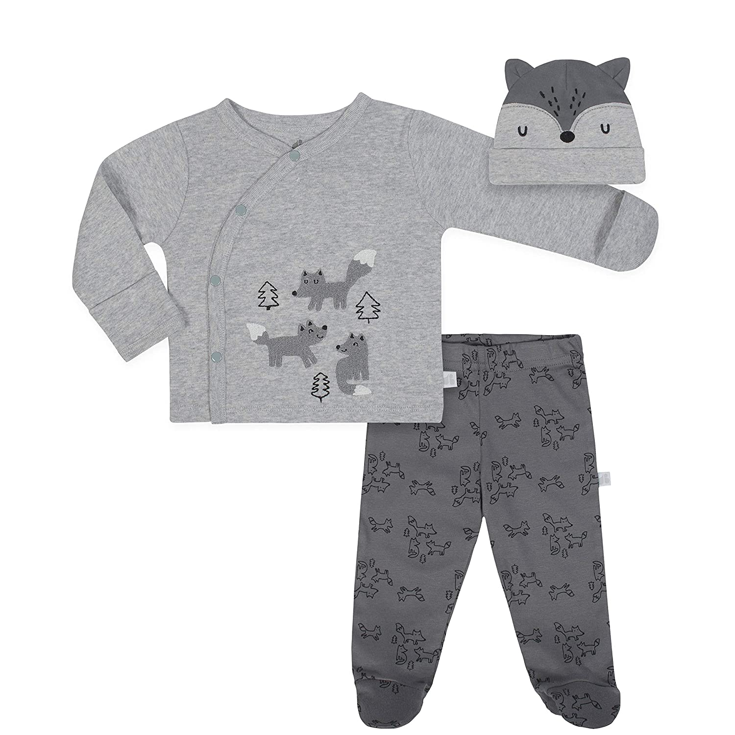 JUST BORN Baby Boys' 3-Piece Organic Take Me Home Outfit