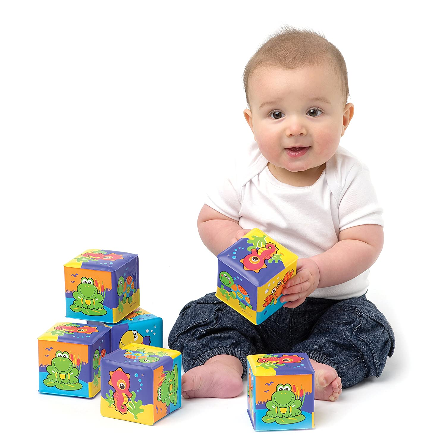Buy Playgro Soft Blocks Multicolor line at Low Prices