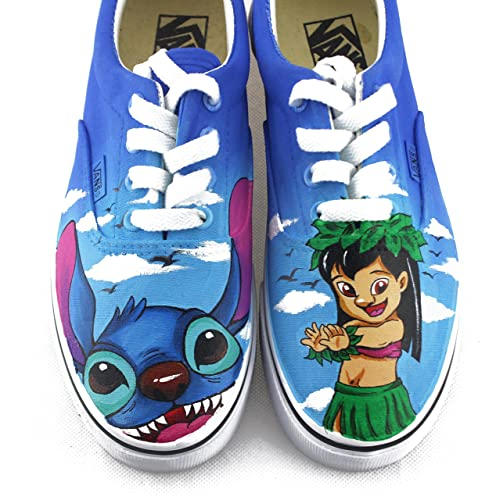 e57d93f4f4467 Lilo and Stitch Shoes Canvas Shoes Custom Anime Painted Sneakers ...