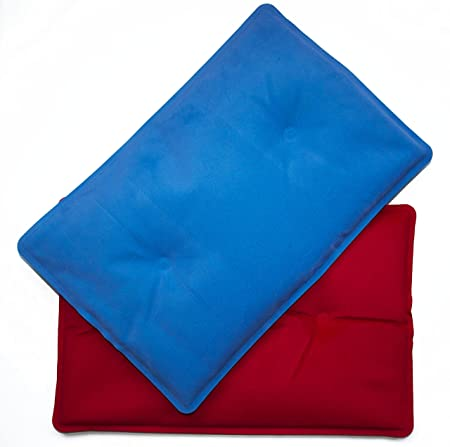 DINTEX - Bolsa Gel Frio-Calor Rojo/Azul 20X30