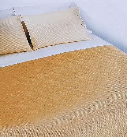 Copriletto Nido D Ape.Casa Tessile Nido D Ape Copriletto Matrimoniale Cm 260x270 Beige Sabbia