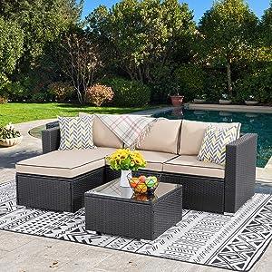 Best Outdoor Rattan Wicker PatioSofa furniture set Reviews