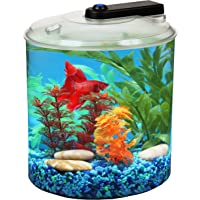 Koller Products AquaScene 1.5 Gallon 360 Fish Tank with LED Lighting