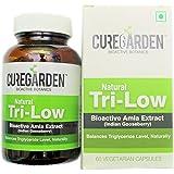 Curegarden natural tri-low Capsules, 60 Pcs, amla extract