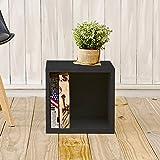 Way Basics Stackable cube storage, Black Wood Grain