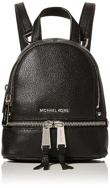 5e19a5dffe91 Michael Kors Womens Rhea Zip Backpack Handbag Black (Black)  Amazon ...