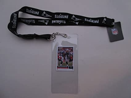 Black New England Patriots Lanyard