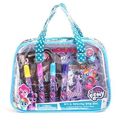 My Little Pony Children Kids Girls Art and Activity Supplies Bag Set 22pcs Ages 3+: Toys & Games [5Bkhe0304898]