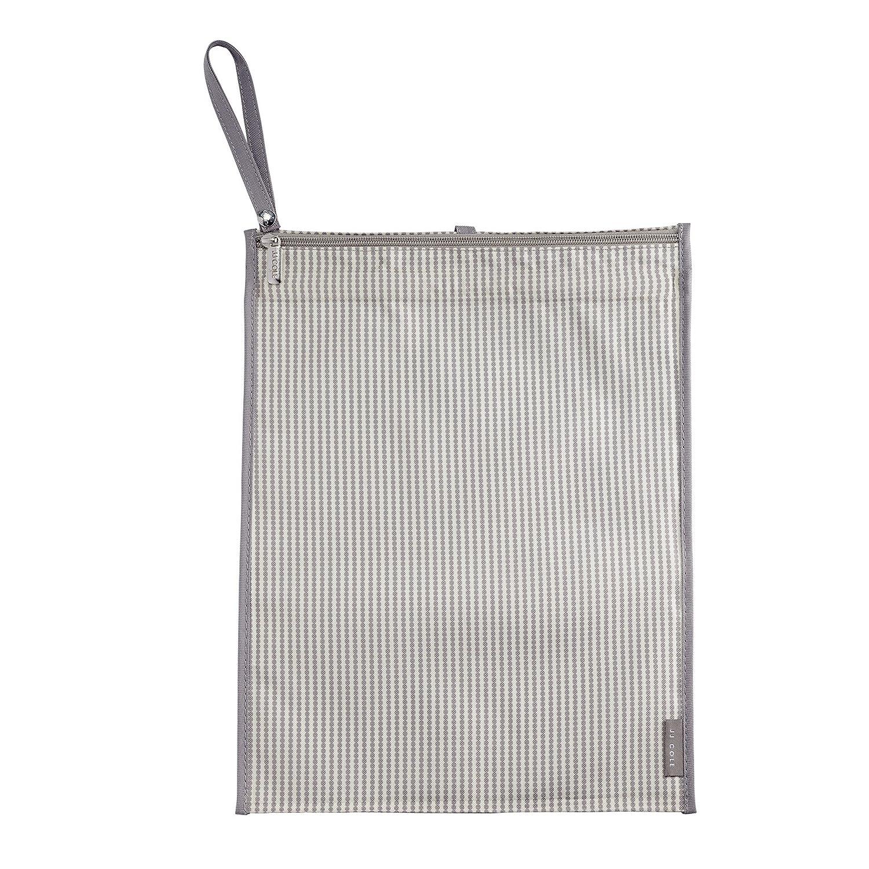 JJ Cole Wet/Dry Bag, Circle Stripe, Gray Tomy J01313