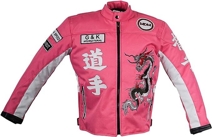 Mdm Kinder Motorrad Jacke In Rosa Bikerjacke Racing Jacke Bekleidung