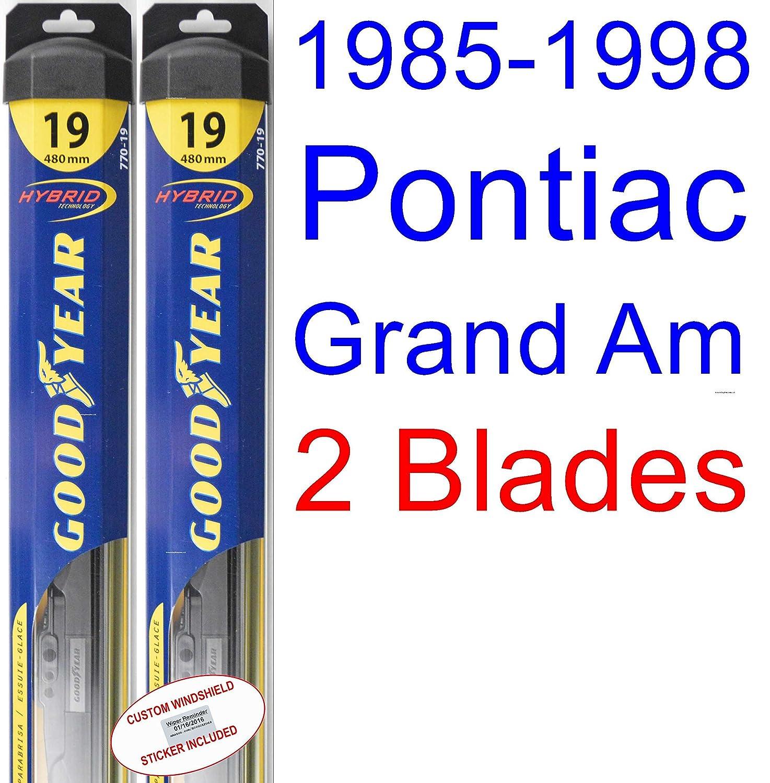 1985 1998 Pontiac Grand Am Wiper Blade Passenger Goodyear Blades Hybrid 198619871988198919901991199219931994199519961997