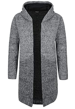 Sublevel Damen Sweat Mantel in Wolloptik mit großer Kapuze  Amazon.de   Bekleidung 33fcfe511f