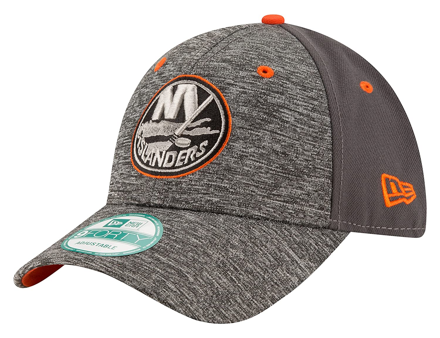 NHL New York Islanders Men's The League Shadow 9FORTY Adjustable Cap, One Size, Gray New Era Cap Company 80289599