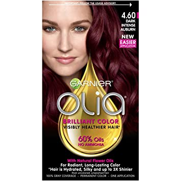 dye hair Dark red