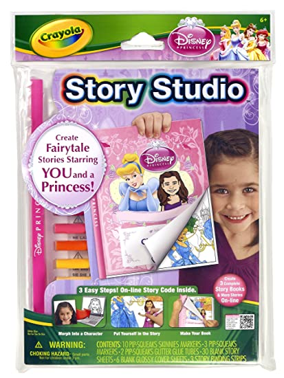 Amazon.com: Crayola Story Studio Fairy Tale Maker Princesses: Toys ...