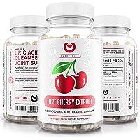 Tart Cherry Capsules - Max Strength 3000mg   6 Month Supply - Advanced Uric Acid...