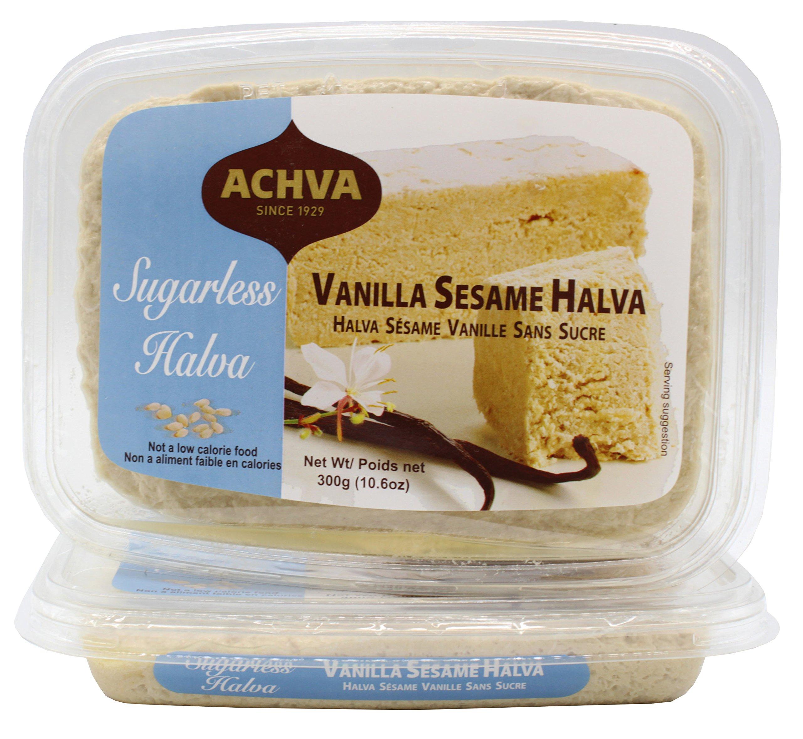Achva Vanilla Kosher Sugar Free Sesame Halva (Pack of 2)