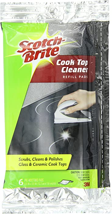 Scotch-Brite Cook Top Cleaner Refill (1 Package of 6 Pre-Moistened Cloths)