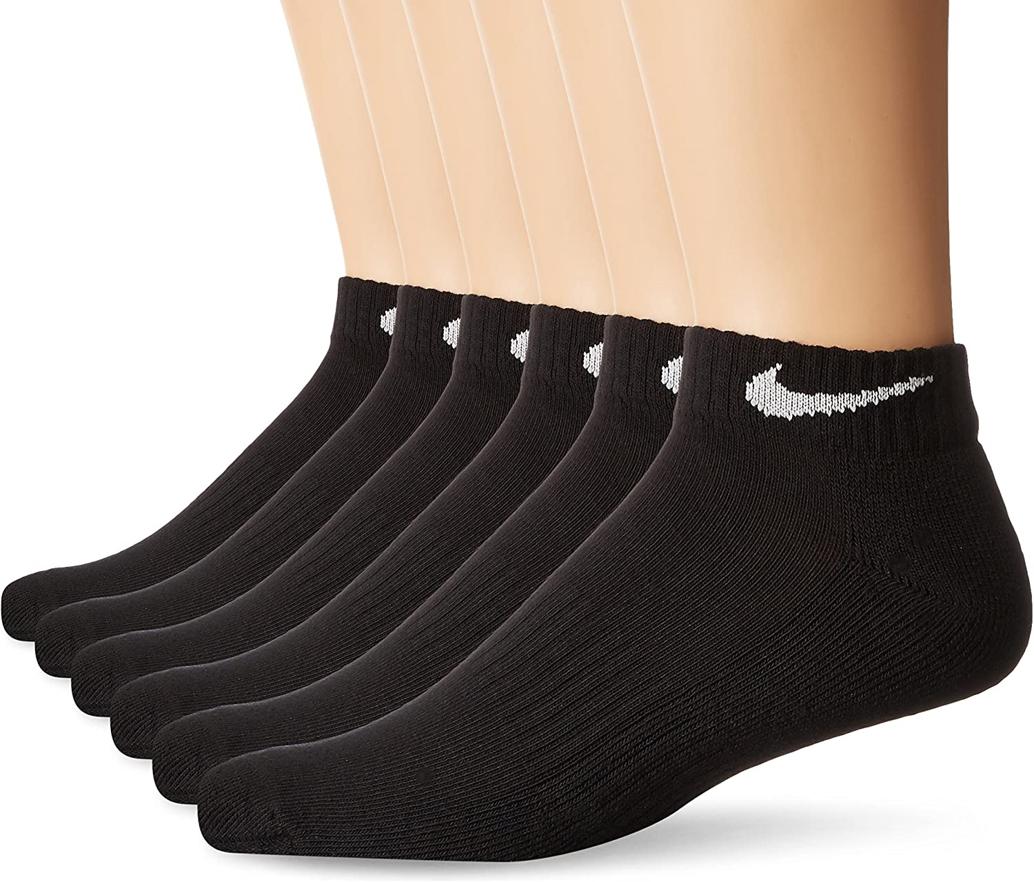 NIKE Performance Cushion Low Rise Socks with Bag (6 Pairs)