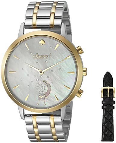 Amazon.com  kate spade new york Women s KST23103B Grand Metro Two Tone  Silver Hybrid Smartwatch Gift Set  Watches eb1aed77ac