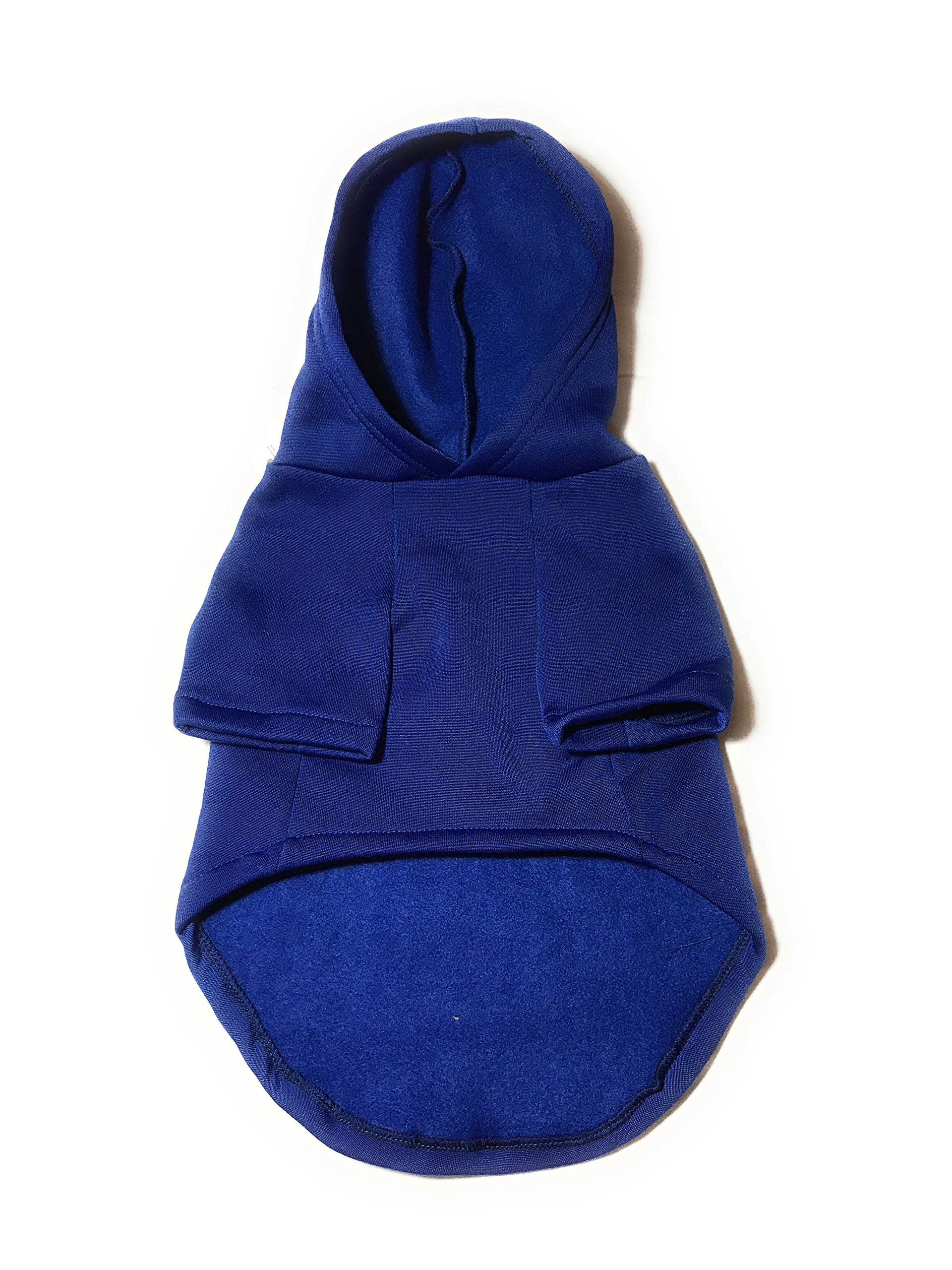 Dog or Puppy Sweater Hoodie ´Party Animal´ Blue and Silver for Large or Extra Large Pets XL size/ Extra Large Fashion and Funny Hoodie Shirt Petmont Brand For Boys Or Girls by Petmont (Image #4)