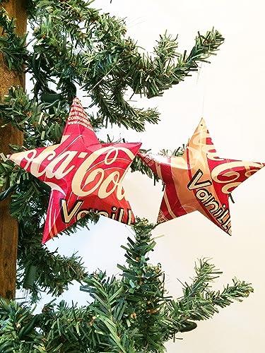 vanilla coke coca cola soda can stars recycled aluminum pop can stars upcycled