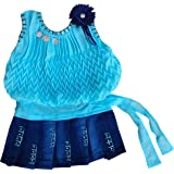 Mf Cute Fashion Baby Girl's Georgette and Jeans Set Frock for