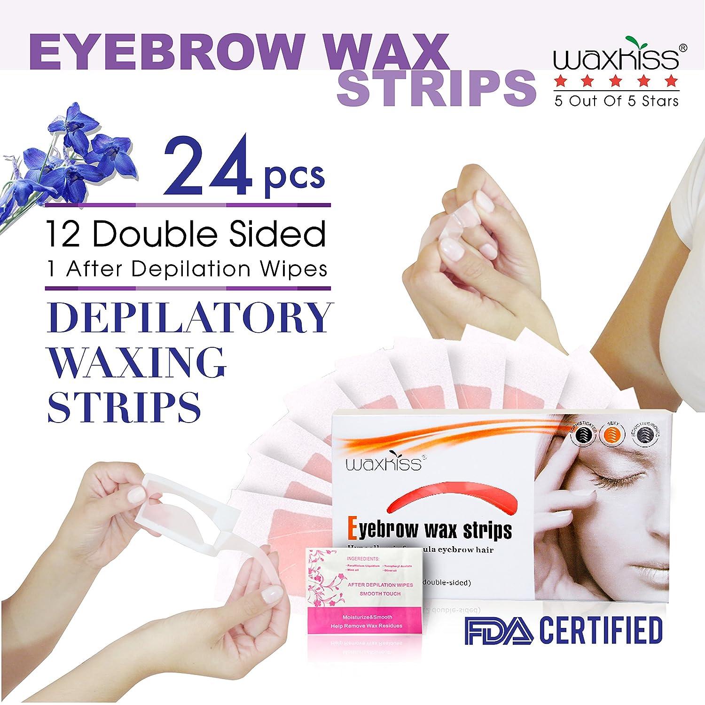 Amazon Waxkiss Eyebrows Wax Strips Cold Waxing Strip For