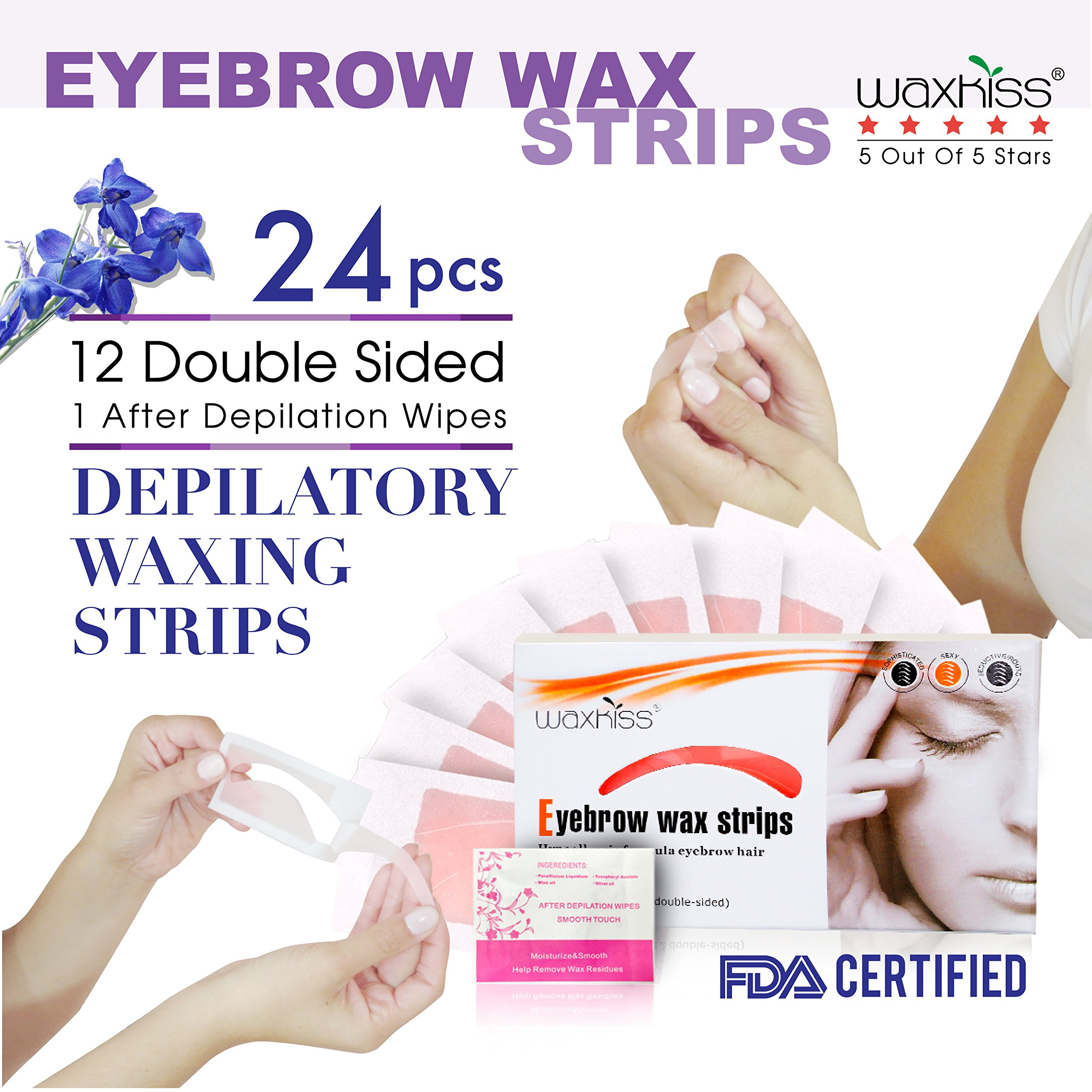Amazon Ardell Brow Shapers Cold Wax Strips 21 Count Eyebrow