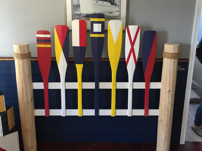 Nautical Full size headboard, Coastal headboard, Cottage headboard, Shabby Chic headboard,