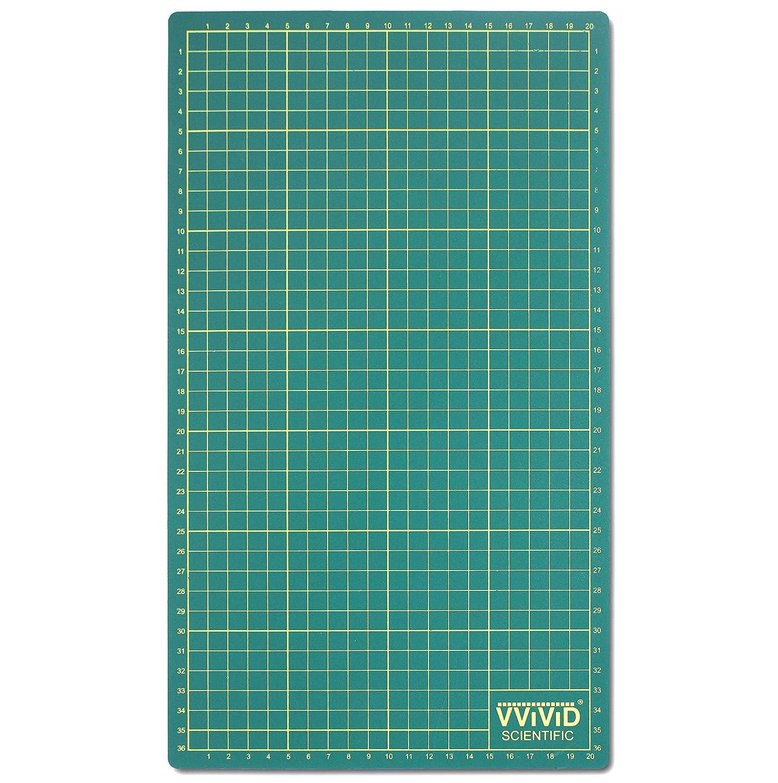VViViD Reversible Self-Healing Gridded Ruled Green Cutting Mat for Craft Cutting