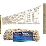 Queen Sports Volleyball Net Standard quality Cotton Beige Standard Size for Sports Training Practice and Fun