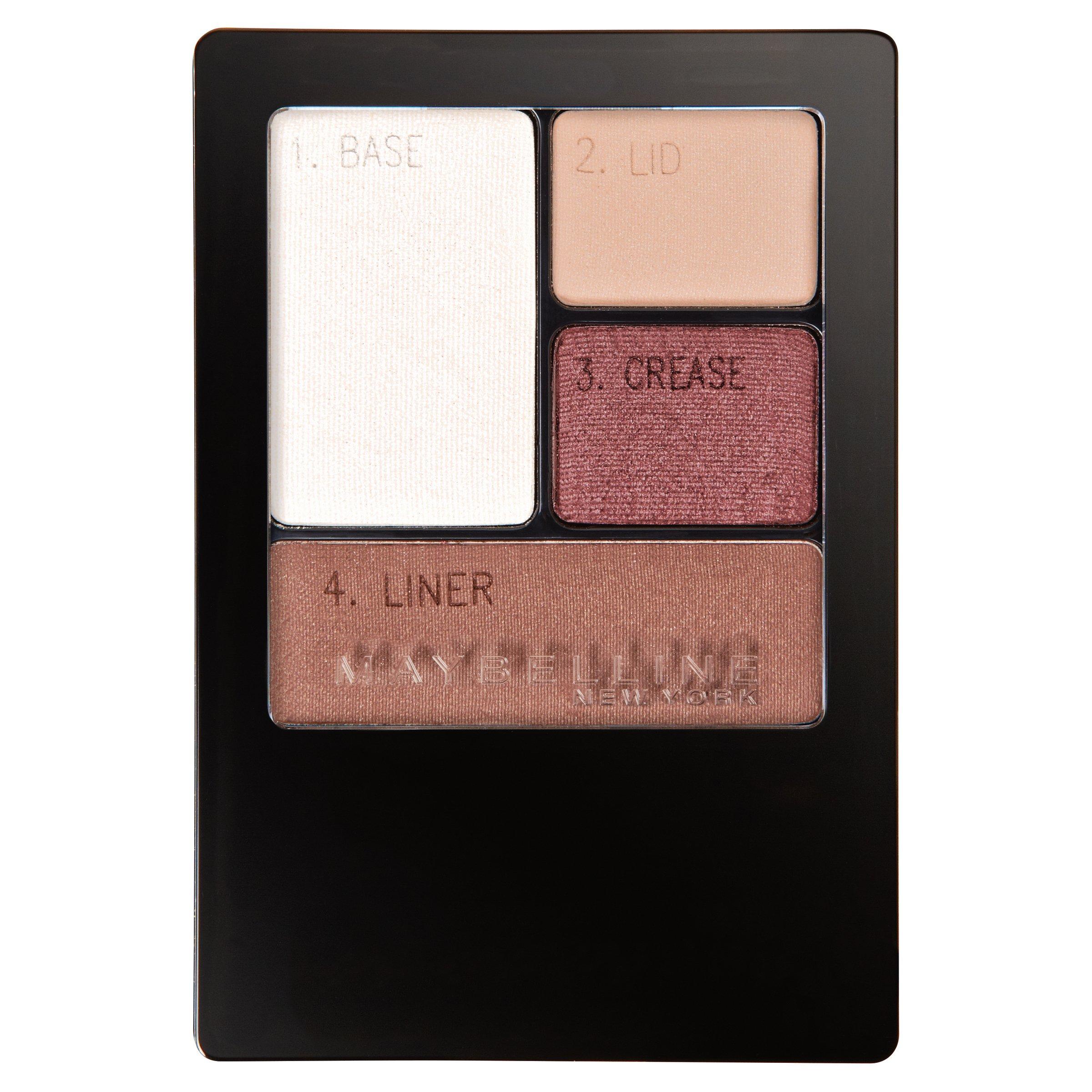 Maybelline Expert Wear Eyeshadow Quads, Designer Chocolates, 0.17 oz.