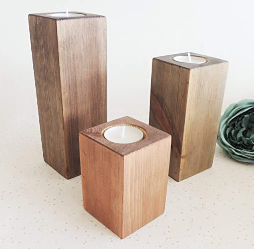 Wood Candle Holder Modern Home Decor Tea Light Holders New Home