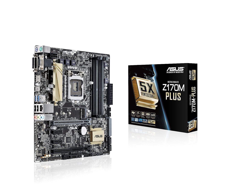 ASUSTeK Intel Z170搭載 第6世代Core i7(Socket LGA1151)対応 USB3.0Type-C搭載 マザーボード Z170M-PLUS 【MATX】 uATX  B0126R44FG