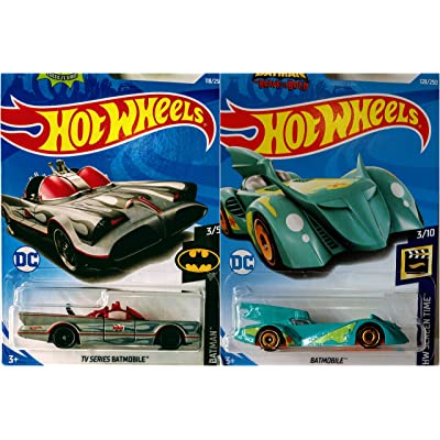 Hot Wheels TV Series Batmobile Grey 118/250 and Scooby Doo Batmobile 128/250 2 Car Bundle Set: Kitchen & Dining