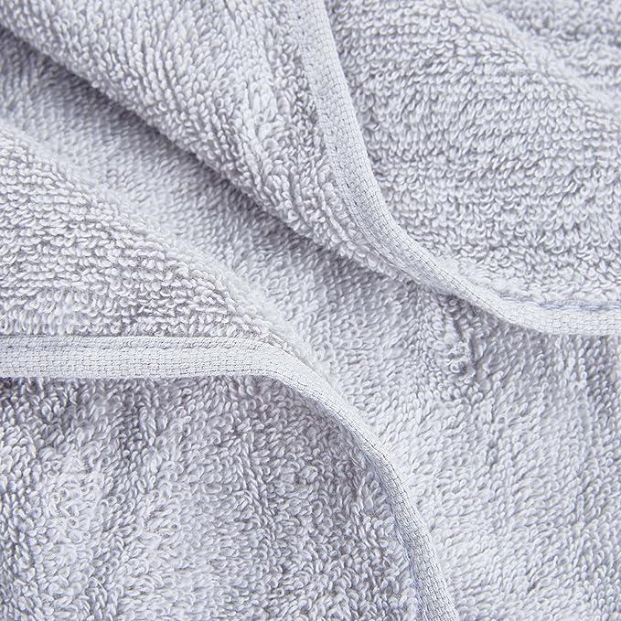 Color Sólido Juego de 3 Toallas de Baño 100% Algodón Absorbencia Rápida 1 Toalla de Baño 1 Toalla de Mano 1 Toalla de Cara Gris Claro: Amazon.es: Hogar