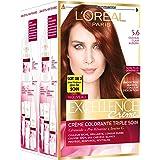 L'Oréal Paris Excellence Couleur Permanente 5,60 Châtain Auburn - Lot de 2