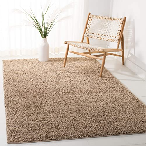 Safavieh New York Shag Collection SG166A Dark Beige Area Rug 4 x 6