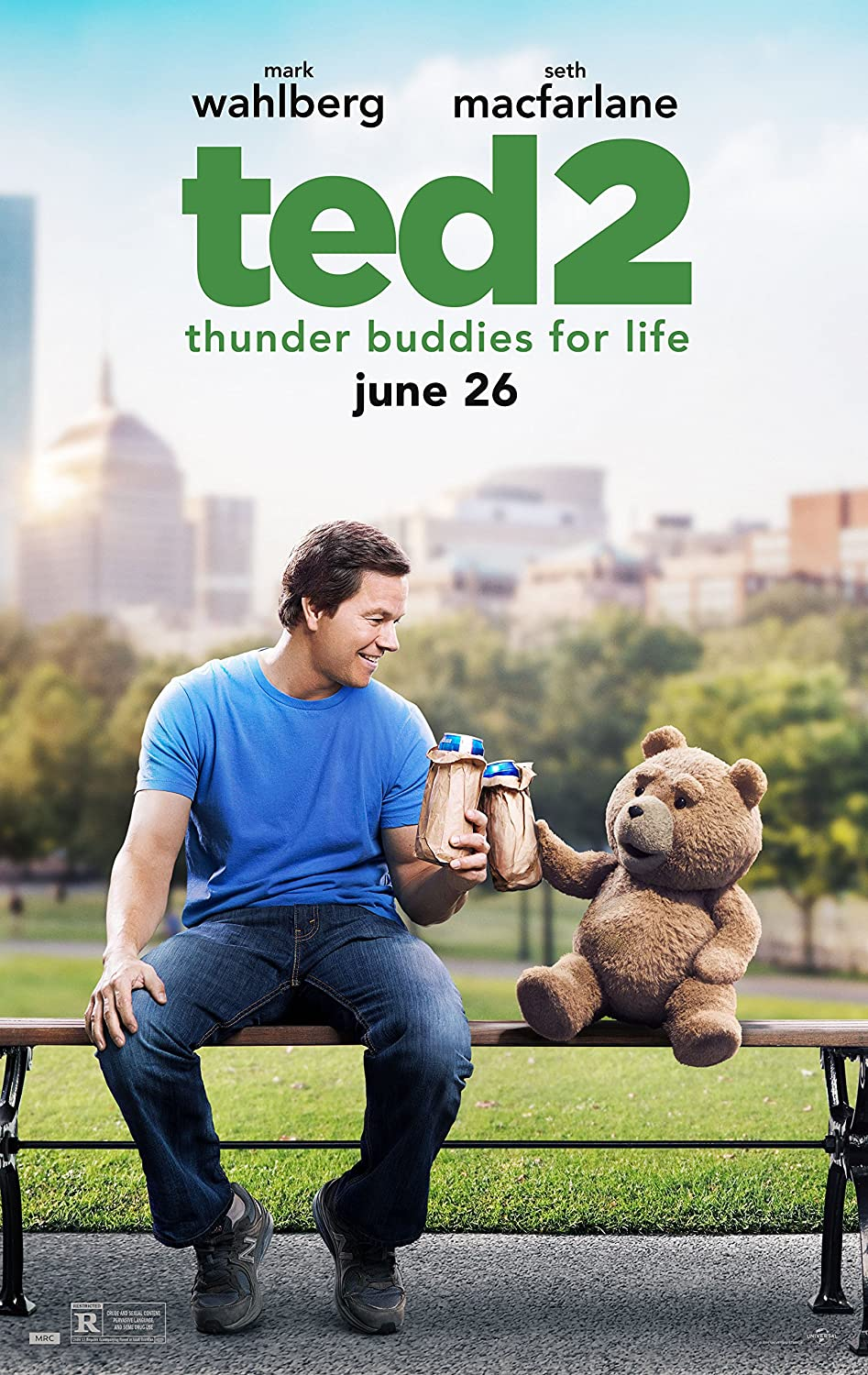 Ted 2 - Movie Poster 24 x 36, Glossy Finish (Thick): Mark Wahlberg, Amanda Seyfried