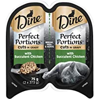 DINE Perfect Portions Wet Cat Food Chicken in Gravy 75g, Adult, 24 Pack, One Size