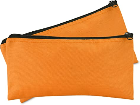 DALIX Bank Bags Money Pouch Securi Deposit Utility Zipper Coin Bag Pink 2 Pack