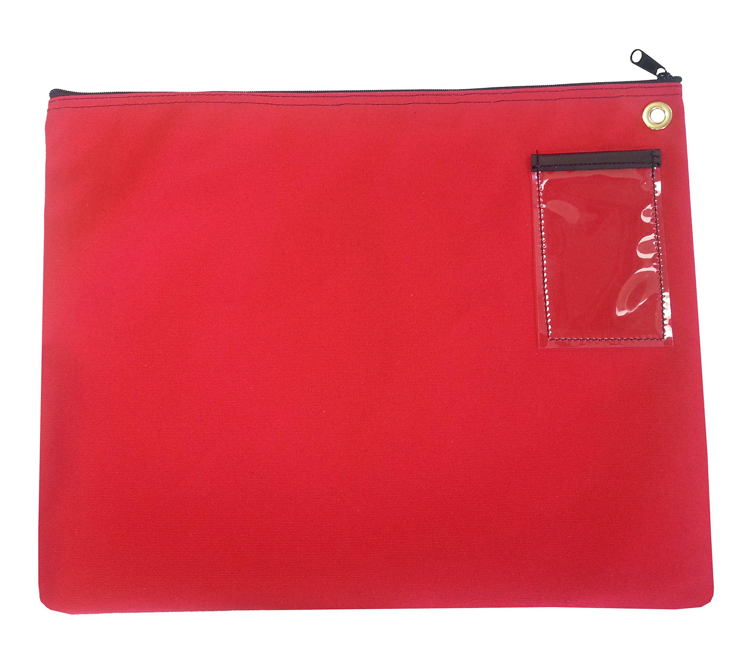 Interoffice Mailer Canvas Transit Bag 14''w x 11''h (Red)