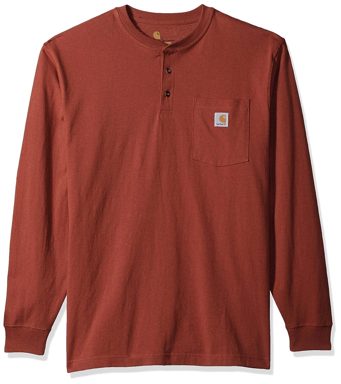 Carhartt Men's Workwear Pocket Long Sleeve Henley, Carhartt Sportswear - Mens K128-CHI
