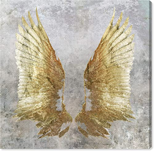 The Oliver Gal Artist Co. Fashion and Glam Wall Art Canvas Prints 'My Golden Wings' Home D cor