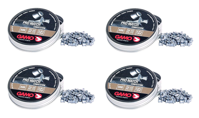 4 latas de 500 perdigones copa Diabolo Pro-Match Competición. Calibre 4, 5mm. Modelo Gamo 321834