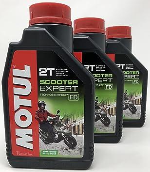 MOTUL Aceite Moto 2T Scooter Expert 2T, 3 litros (3x1 lt ...