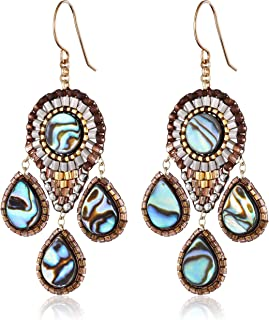 product image for Miguel Ases Abalone Small 3-Drop Chandelier Earrings