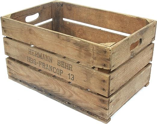 Obstkisten - Caja de almacenaje, 55 x 35 x 32 cm: Amazon.es: Hogar