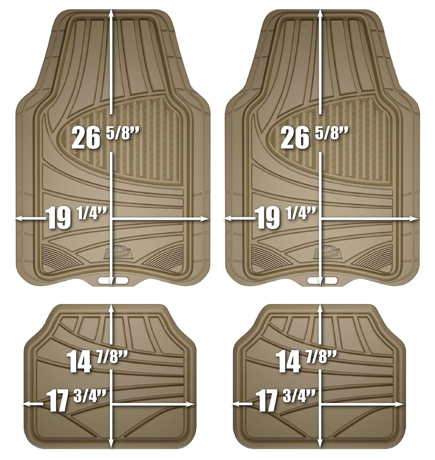 Floor mats jeep liberty 2012 - Armor All 78842 4 Piece Tan All Season Rubber Floor Mat